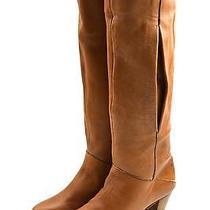 Vtg Frye Romy Tall Brown Leather Knee High Coachella Boho Boots 5 M Nwob Photo