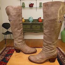 Vtg Frye Women's Slate 'Jane' Tall Cuff Fashion Boots 77594 Xlnt  9b   Photo
