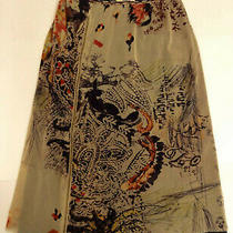 Vtg Fuzzi Jean Paul Gaultier 90s Y2k Mesh Zip-Front Abstract Knee-Length Skirt-M Photo
