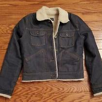 Vtg Gap Jean Denim Jacket Blue  Fleece  Sherpa Trucker Women's Small 26-105  Photo