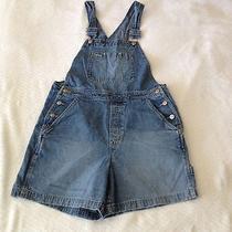 Vtg Gap Jean Overalls Shorts S Small Blue Denim Bib Ladies Grunge Romper Photo