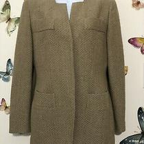 Vtg Giorgio Armani a Milano Borgonuovo Blazer Jacket Cashmere Wool Sz 38 Us 4 Photo