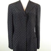 Vtg Giorgio Armani Borg 21 Black Label Long Textured Jacket Coat 42