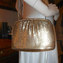 Vtg Gold Mesh Whiting & Davis Handbag Purse Special Occasion Prom Photo