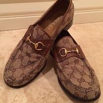 Vtg Gucci Equestrian Horse Bit Iconic Gg Leather Loafers Flats Shoes 7b Italy Photo
