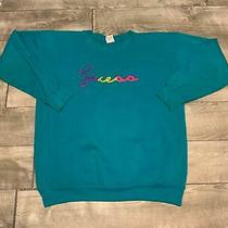 Vtg Guess Cursive Script Usa Georges Marciano Lg One Size Sweatshirt Sweat Shirt Photo