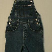 Vtg Guess Jeans Overall Shorts Bermuda Shortalls Blue Jean Denim Womens Sz 2 Usa Photo