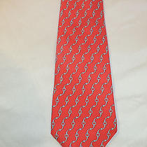 Vtg Hermes 5360 Oa Horsebit Link 100% Silk Made in France Classic Tie(see Others Photo