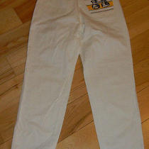 Vtg High Waist White Italy Escada Nautical Jeans Pants Straight Leg 42 31w 28i M Photo