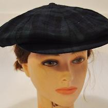 Vtg Hudson's Bay Scottish Beret Newsboy Hat Ivy Cap Sz 8 Black Watch Green Plaid Photo