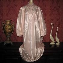 Vtg Ilise Elise Stevens Satin Cuddleskin Nightgown Gown Large Lingerie New Nwt Photo