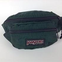 Vtg Jansport Fanny Pack Two Pocket Forest Green Made in Usa Hiking Photo