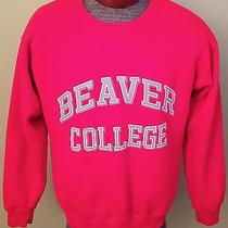 Vtg Jansport Rare Beaver College Arcadia Red Crew Sweatshirt M Photo
