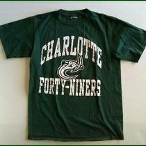 Vtg Jansport T Shirt Charlotte Forty Niners Unc Medium Green Photo