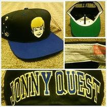 Vtg Jonny Quest Blockhead Snapback Hat Cap American Needle Toons Deadstock Rare Photo