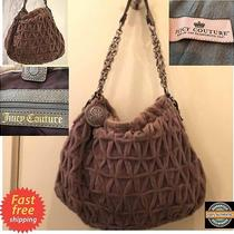Vtg Juicy Couture 2011 Limited Edition 100% Lamp Leather Brown Dust Bag Handbag Photo