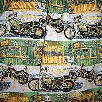 Vtg Kahala Avi Harley Davidson Motorcycle Hawaiian Aloha Beach Party Shirt Lrg Photo