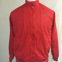 Vtg Lacoste Izod Club Jacket Golf Women's Size M Red Striped Photo