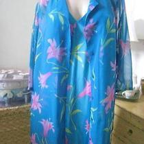 Vtg Lane Bryant  2pc Sheer Robe & Satin Nightgown Lingerie Set  Sz 22/24 (O) Photo