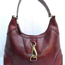 Vtg...large Boho...wilsons...mahogany Brown...handbag Photo