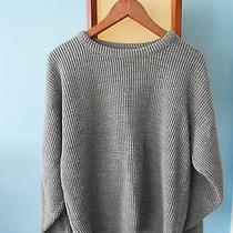 Vtg Le Tigre Gray Rib Knit Oversize Sweater  Acne Wood Wood Totokaelo / S-M-L Photo