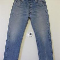Vtg Levi's 501 Denim Jeans Usa Made 34 X 30 Fades Hige Grunge H5 Distressed 80s Photo