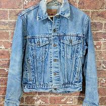 Vtg Levis 36 Denim Jacket Heavily Distressed Frayed Grungy Jeans Blue Usa Photo