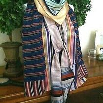 Vtg Lot 101 - 5 Striped Scarves W Adolfo Anne Klein Liz Claiborne Silk &  More Photo