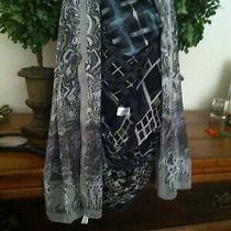 Vtg Lot 102 - 4 Black & White Scarves W Anne Klein Elaine Gold Italy Silk Photo