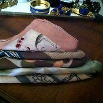 Vtg Lot 146 - 5 Pink Tan Tone Scarves W Echo Anne Klein Silk & More Photo