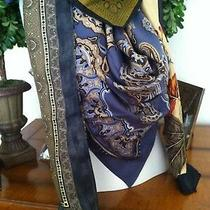 Vtg Lot 58 - 4 Scarves - Echo Anne Klein Huge Silk Photo