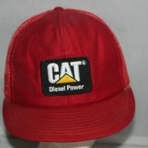 Vtg Louisville Mfg Co Cat Caterpillar 80's Diesel Power Red Snapback Hat  Cap Photo