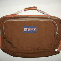 Vtg Made in Usa Jansport Soft Briefcase Brown Computer Bag Tote Pack Hand  Photo