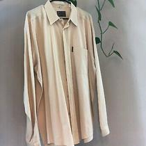 Vtg. Men's Armani Jeans Yellow Cotton Long Sleeve Shirt Size Large Photo