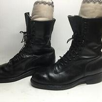 Vtg Mens Addison Military Steel Toe  Black Boot Size 10 D Photo