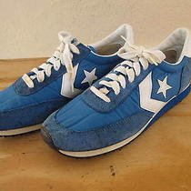 Vtg Mens Converse Star Running Shoes Sneakers Sz 10.5 Blue/white Taiwan Made Photo