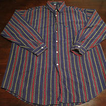 Vtg Mens Guess Georges Marciano Usa Bright Colorful Indian Print Shirt Sz 4 Xl Photo