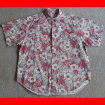 Vtg Mens L Guess by Georges Marciano Multicolor Tropical Floral Hawaiian Shirt Photo