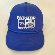Vtg New Parker Ford Mercury Lincoln Murray Ky Blue Snapback Trucker Hat Cap Car Photo