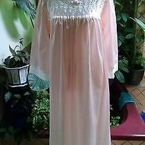Vtg Nwot Nos Christian Dior Cotton Blend Blush Pink Long Nightgown Size Med Nice Photo