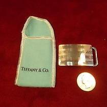 Vtg Old Tiffany & Co Sterling Silver Belt Buckle Photo