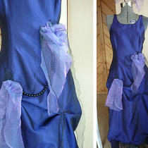 Vtg Ooak Purple Prom Steampunk Goth Alternative Pick Up Gown Costume 9/10 Small Photo