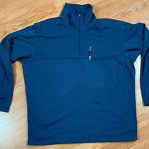 Vtg Patagonia Regulator 1/4 Zip Pullover Waffle Jacket Men's Sz L Navy Blue Usa Photo