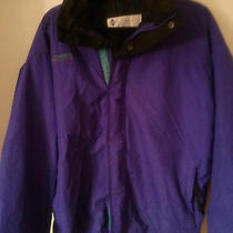 Vtg Purple Black Columbia Bugaboo Ski Jacket Winter Coat M Medium Radial Sleeve Photo
