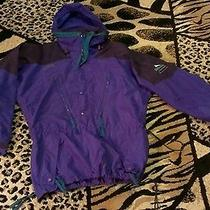 Vtg Rare Mens Columbia Budweiser Jacket Coat Size Medium Radial Sleeve Indigo   Photo