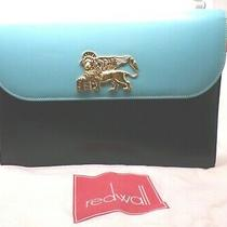 Vtg. Rare Pattern Moschino 433025 Italy Redwall Red White & Blue Purse Hand Bag Photo