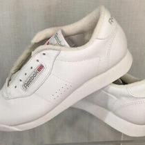 Vtg Reebok Classic 2-1475 Princess Aerobic White Sneaker Tennis Shoe Sz 8 Blue Photo