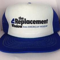 Vtg Replacement Window From American Window Trucker Hat Cap Snapback Advetising Photo