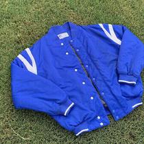 Vtg Russell Bomber Coach Jacket Coat Insulated Blue Mens Photo
