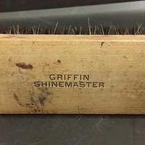 Vtg Shoe Shine Brush Marked Griffin Shinemaster Wood Horse Hair Photo